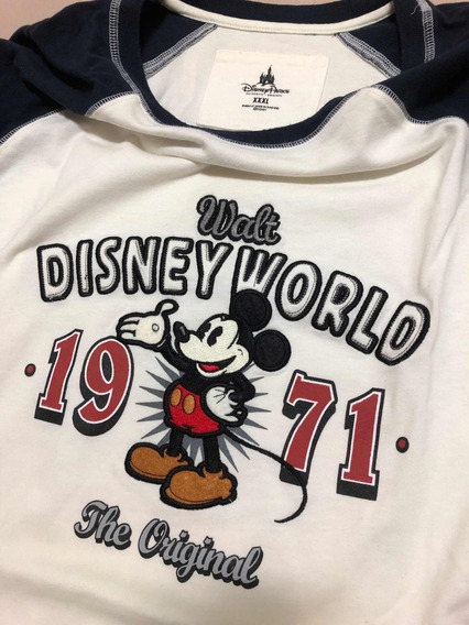 Camiseta Manga Longa Xxl Americana Disney Mickey Linda