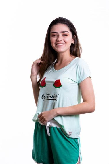 Pijamas Para Damas Conjunto Shorts Y Franela Paulinas