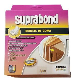 Burlete De Goma Autoadhesivo Suprabond Dura Hasta 10 Años