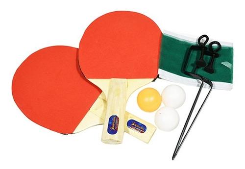 Set Ping Pong Combo 2 Paletas + Red + Pelotas