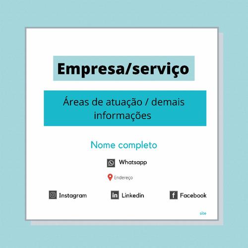 Imagem 1 de 1 de Cartão De Visita Digital Interativo