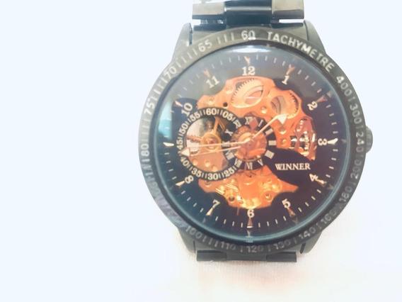 Relógio Importado Original Winner Skeleton Frete Grátis