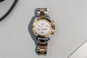 Relógio Rolex Dourado Prata Daytona Automático Vidro Safira