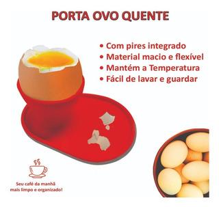 Conjunto Com 4 Suportes Para Ovo Quente Cozido C/ Pires Pro*