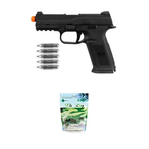 Pistola Airsoft Co2 Fn Herstal Fns-9 Full Metal + Co2 + Bbs