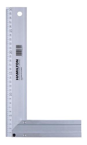 Escuadra Carpintero Aluminio Hamilton Ea30 300mm