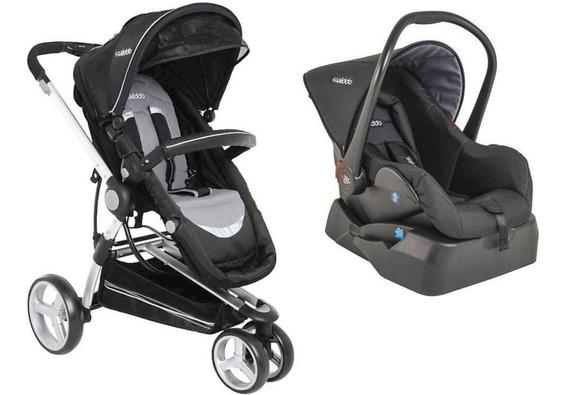 Carrinho Bebê Moisés Kiddo Compass 2 C/ Bebê Conforto E Base