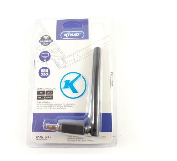 Adaptador Wi-fi Wireless C Antena Usb 150mbps Kp-aw154 Knup