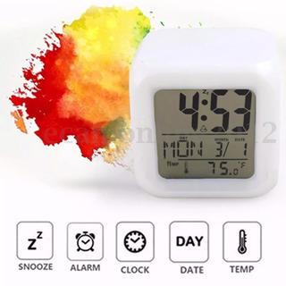 Reloj Cubo Led Color Fecha Y Temperatura