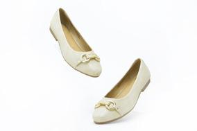 Zapatos Dama Flats Casual Flexi 47308 Oro 100% Original
