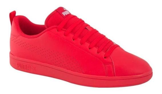 Tenis Casuales Hombre Puma Smash Ace 5304 Rojo