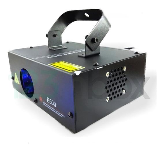Laser Azul B-500 Bivolt Automático Vários Efeitos Sensor Som