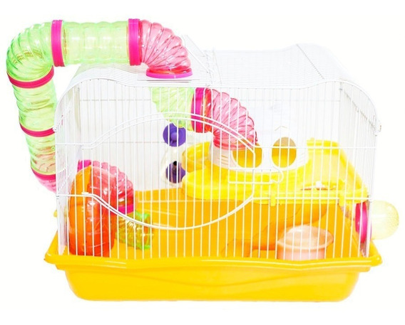 Gaiola Para Hamster Mo21b - Com Tubos