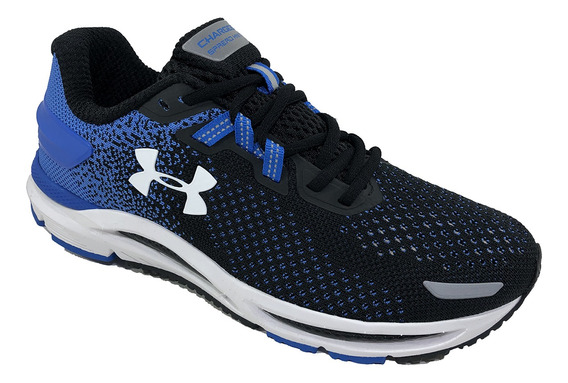 Tênis Under Armour Charged Spread Knit - Preto E Azul