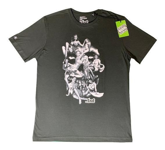 Camiseta Lost Original Especial Skull Girl Frete Grátis G