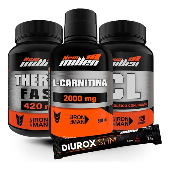 Thermo Fast + Óleo De Cartamo + L-carnitina - New Millen