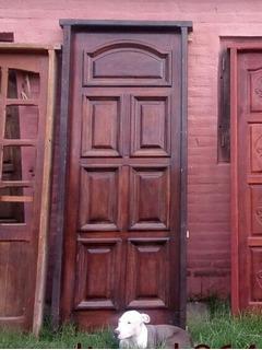 Excelente Puerta De Algarrobo Doble Frente