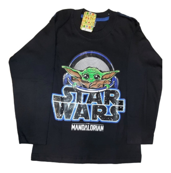 Remera Nene Invierno Superhéroes Spiderman Batman Star Wars