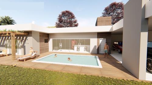 Imagem 1 de 7 de  Planta De Casa 1 Quarto - Projeto Arquitetônico Completo