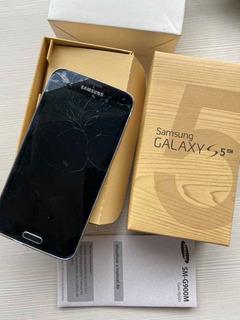 Samsung Galaxy S5 4g Tela Quebrada Na Caixa + Case Original