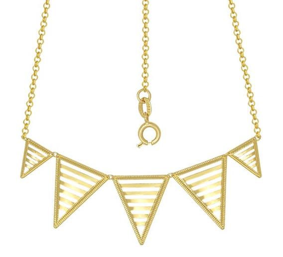 Gargantilha Com 5 Triângulos Vazados