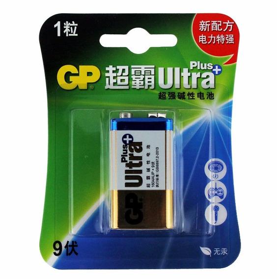 Pila Bateria 9v Gp Ultra Alcalina Larga Duracion Blister