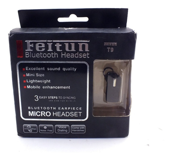 Fone De Ouvido Mini Headset Bluetooth Feitun Bluetooth Headset T9 A11322