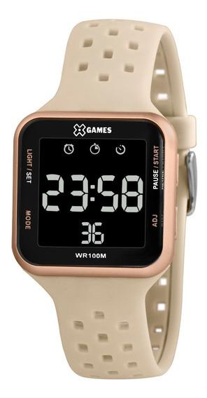 Relógio X-games Feminino Digital Xlppd033 Rose Lançamento