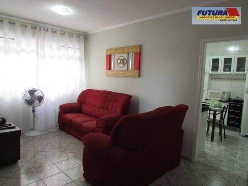 Apartamento Com 2 Dormitórios À Venda, 68 M² Por R$ 180.000,00 - Parque São Vicente - São Vicente/sp - Ap1641