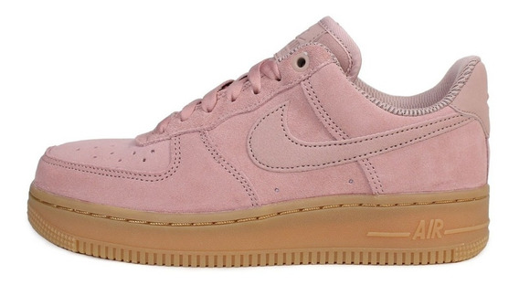 Zapatillas Nike Air Force 1 Low Pink Mujer Originales-b