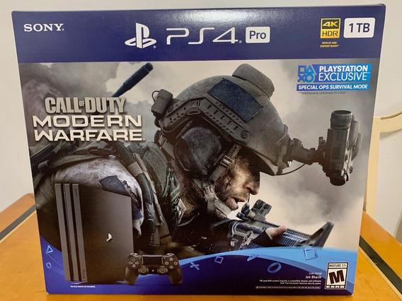 Ps4 Pro 1tb Playstation Consola 4k + Warfare Call Of Duty