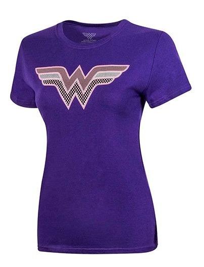 Playera Dama Wonder Woman Ltx 401dshww007wb Morado 92222 T5