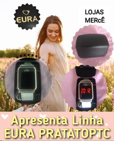 Relogio Prata Eura Touch Screen Com Frete Gratis Lojasmerce