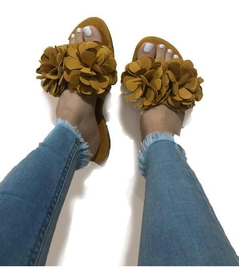 Sandalia Dama Descanso Aplicación Flor Colección 2020