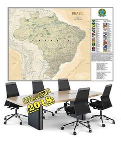 Mapa Do Brasil Hd 65x100cm Decorar Sala Escritório Escola