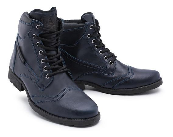 Sapato Botina Casual Social Masculino Bota De Amarrar 1006