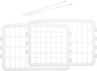 Amazonbasics Cerca Plástica, 2 Paneles De Extensión, Blanco