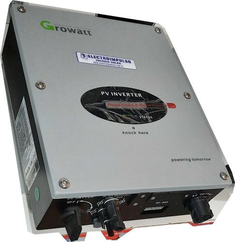Imagen 1 de 2 de Inversor Growatt 2500-s On Grid Inyector