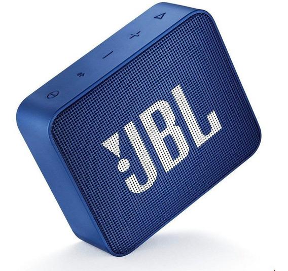 Caixa De Som Jbl Go 2 Bluetooth 3 Watts Prova Água Azul(blue) Original Lacrada
