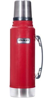 Termo Stanley Classic 1l Rojo Tapon Cebador Acero Inoxidable