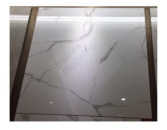 Porcelanato Carrara Pulido 60x60 Simil Marmol 1ra Rectificad