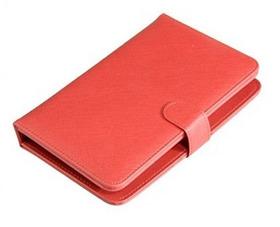 Capa Protetora Universal Para Tablet 7  Couro Vermelha