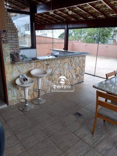Cobertura Com 3 Dormitórios À Venda, 232 M² Por R$ 700.000,00 - Utinga - Santo André/sp - Co0028