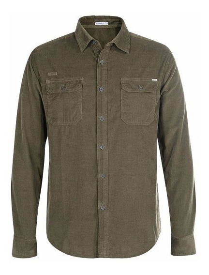 Exclusiva Camisa De Pana Gramicci Xl Verde Militar