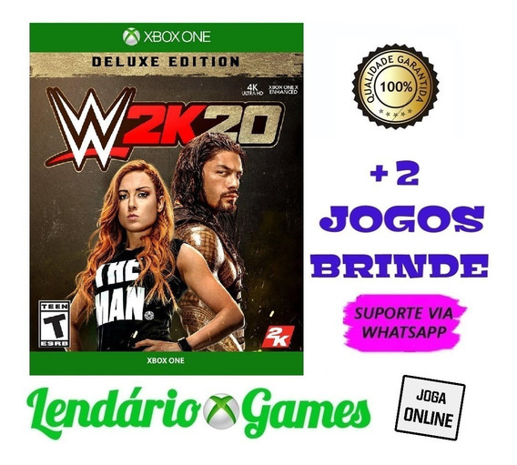Wwe 2k20 Deluxe Edition X One M. Digital + 2 Brindes