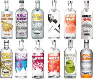 Garrafa Vodka Absolut Sabor Sabores 1 Litro 100% Original