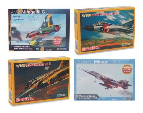 Imagen 1 de 8 de 4 Maquetas Para Armar De Aviones Modelex + 1 Pegamento