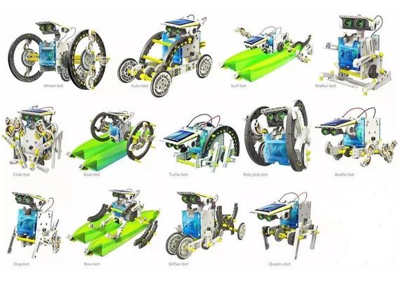 Brinquedo Educativo Solar - Kit Robô Solar 14 Em 1 P/ Montar