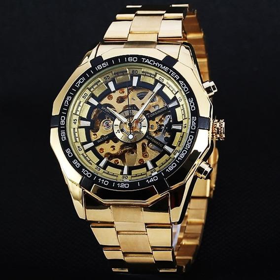 Reloj Hombre Automatico Mecanico Skeleton Original Importado