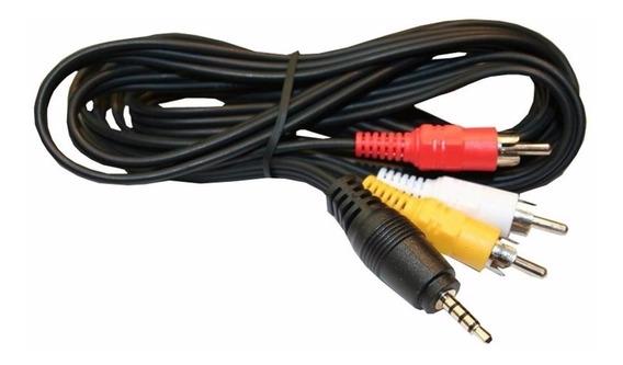 2 Cabo Áudio Auxiliar P2 3rca Para Dvd Celular P2 Tv De Tubo